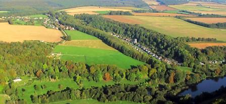 Aerial view of Milton Abbas